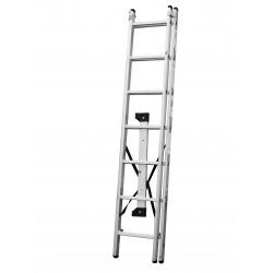 Алуминиева стълба сертифицирана 122 / 2x7 стъпала / 150 кг