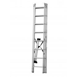 Алуминиева стълба сертифицирана NV 123 / 3x8 стъпала / 150 кг