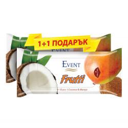 Мокри кърпички Кокос и манго - 15 броя / промо пакет 1+1