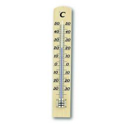 Tермометър за вътрешна и външна температура TFA масив бук
