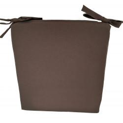 Възглавница с цип 43х40х4см / тъмнокафява