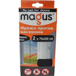 Мрежа за врати против насекоми Magus черна 1.4м х 2.2м