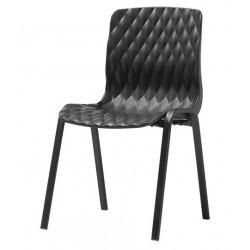 Градински стол Royal черен 52x50x83 cm