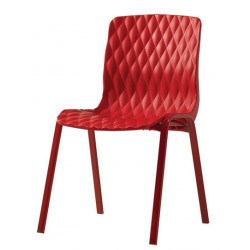 Градински стол Royal червен 52x50x83 cm