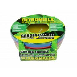 Свещ Citronella против насекоми в цветна глинена купичка 11.5х5.5см