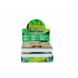 Свещ Citronella против насекоми в глинена купичка 13.5х6.2 см