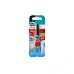 Супер лепило Bison Super Glue ® 2гр / гел карта