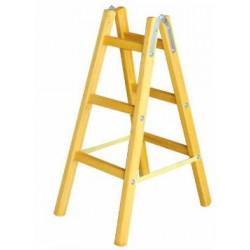 Дървена стълба с 3 стъпала 105 см