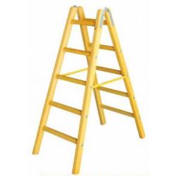 Дървена стълба с 5 стъпала 162 см