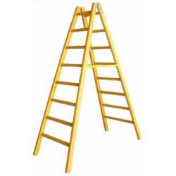 Дървена стълба с 8 стъпала 252 см