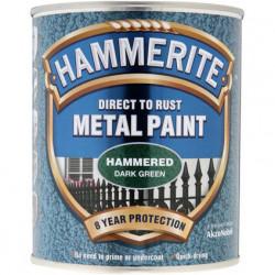Боя за метал Hammerite хамър ефект маслено зелен 750 мл