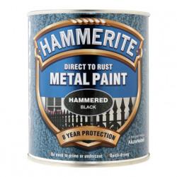 Боя за метал Hammerite хамър ефект черен 750 мл