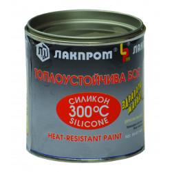Топлоустойчива боя силикон 300°С 220 ml черна