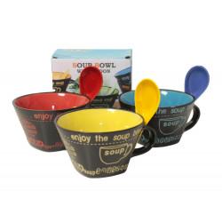 Купа за супа с дръжка и лъжица в кутия Т3-57