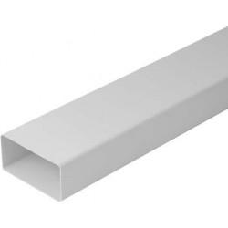 PVC плосък въздуховод 55х110мм/1м