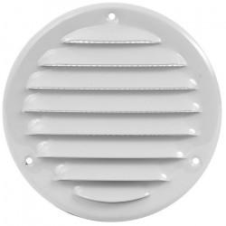 Вентилационна решетка метал ø125мм бяла