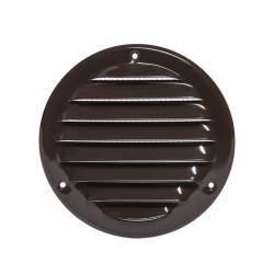 Вентилационна решетка метал ø125мм кафява