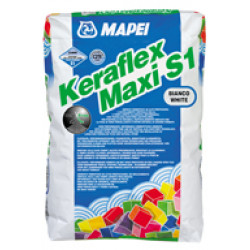 Еластично дебелослойно бяло лепило 23kg Mapei Keraflex Maxi С2ТЕ S1