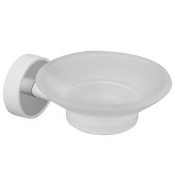 Стъклена сапунерка Kapitan Optimo бяло