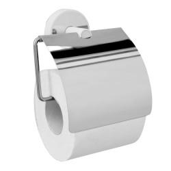 Държач WC за тоалетна хартия с капак Kapitan Optimo бяло