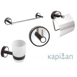 Комплект аксесоари за баня 4 части Kapitan Optimo черно
