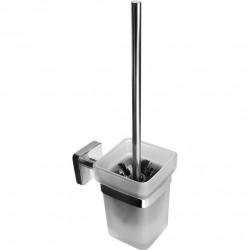 Конзолен стъклен WC сет / четка Kapitan Quattro