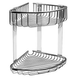Двойна етажерка за баня с дълбока и плитка кошничка Kapitan