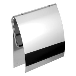 Държач за WC хартия с капак - за монтаж с лепенка или винтове Kapitan