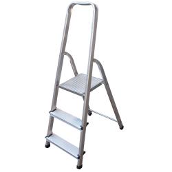 Алуминиева стълба сертифицирана Drabest 2+1 стъпала 125кг