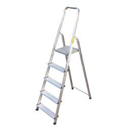 Алуминиева сертифицирана стълба Drabest 4+1 стъпала 125кг