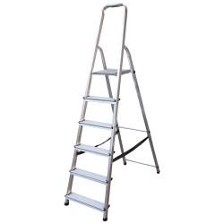Алуминиева сертифицирана стълба Drabest 5+1 стъпала 125кг