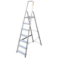 Алуминиева сертифицирана стълба Drabest 6+1 стъпала 125кг