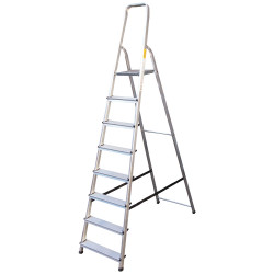 Алуминиева сертифицирана стълба Drabest 7+1 стъпала 125кг