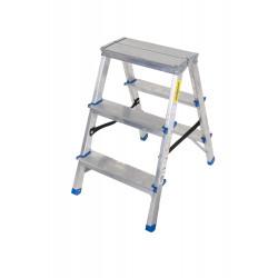 Алуминиева домакинска двустранна стълба Drabest 2х3 стъпала 125кг