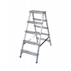 Алуминиева домакинскадвустранна стълба Drabest 2х5 стъпала 125кг