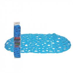 Постелка за баня 69х39 триъгълници синя