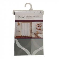 Завеса за баня 180х180 сиво и бяло / Т14-697