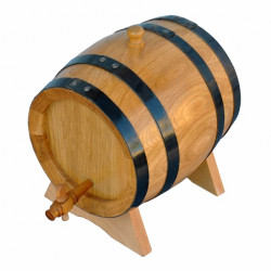 Дъбова бъчва с дървена канелка 5 литра