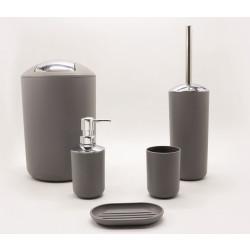 Комплект аксесоари за баня Миа 5 части / сив
