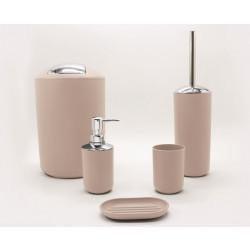 Комплект аксесоари за баня Флин 5 части / бежов