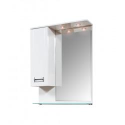 Горен PVC шкаф за баня с огледало и LED осветление Виктория