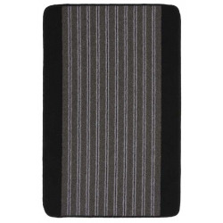 Пътека Delta 80cm / сива основа с черен бордюр