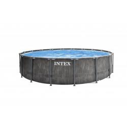 Басейн с метална рамка и филтърна помпа Intex 26742NP Greywood 457x122см