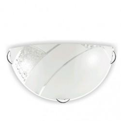 Аплик Pietra бял+кристал 1хЕ27