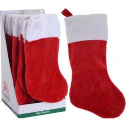 Коледно чорапче 43см плюш / полиестер AAF204020