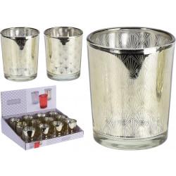 Свещник за чаена свещ злато / стъкло ACC681000