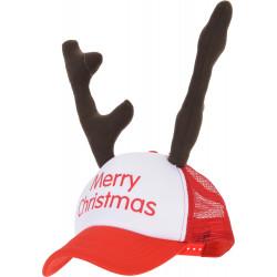 Коледна шапка с еленови рога / полиестер ANR000540