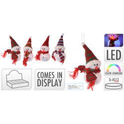 Коледен светещ LED снежен човек / полипропилен RGB APF463001