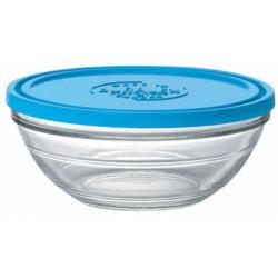 Стъклена купа с капак / дуралекс 17см-97cl