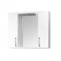 Горен шкаф за баня с огледало Макена Моника